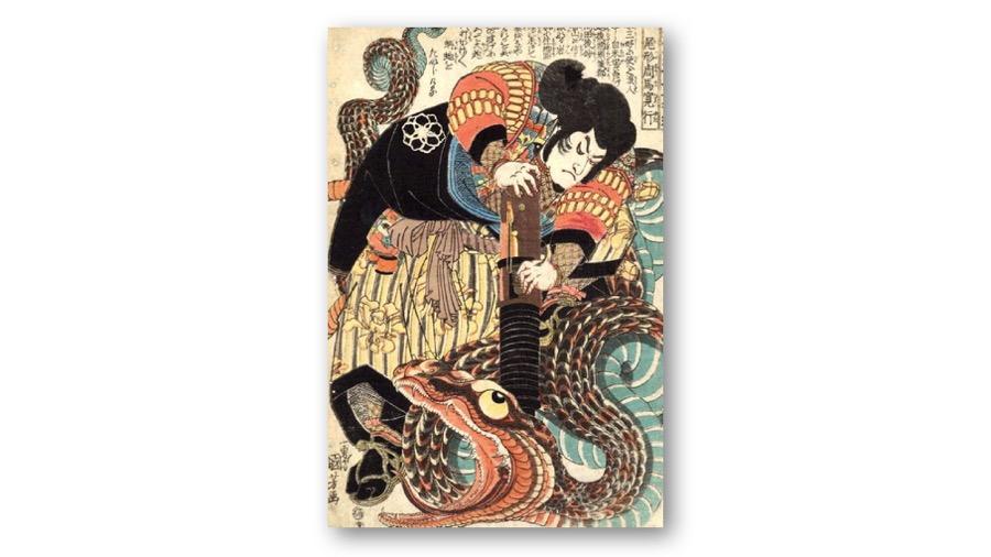 Jiraiya in Ukiyoe by UTAGAWA Kuniyoshi